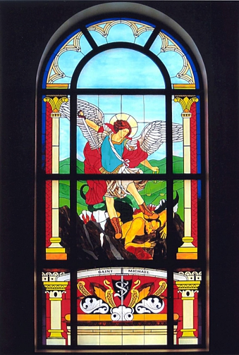 St. Michaels stained glass by Wallis Doors